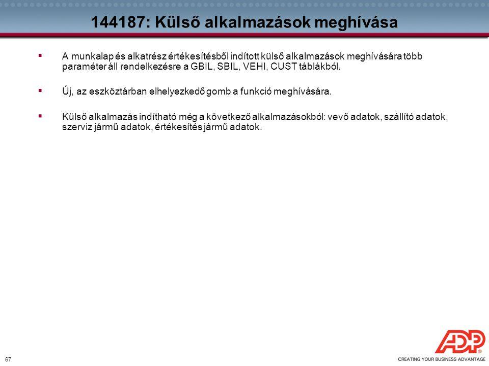 144187: Külső alkalmazások meghívása