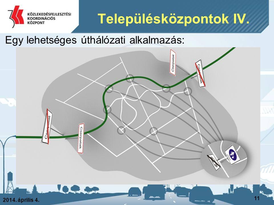 Településközpontok IV.