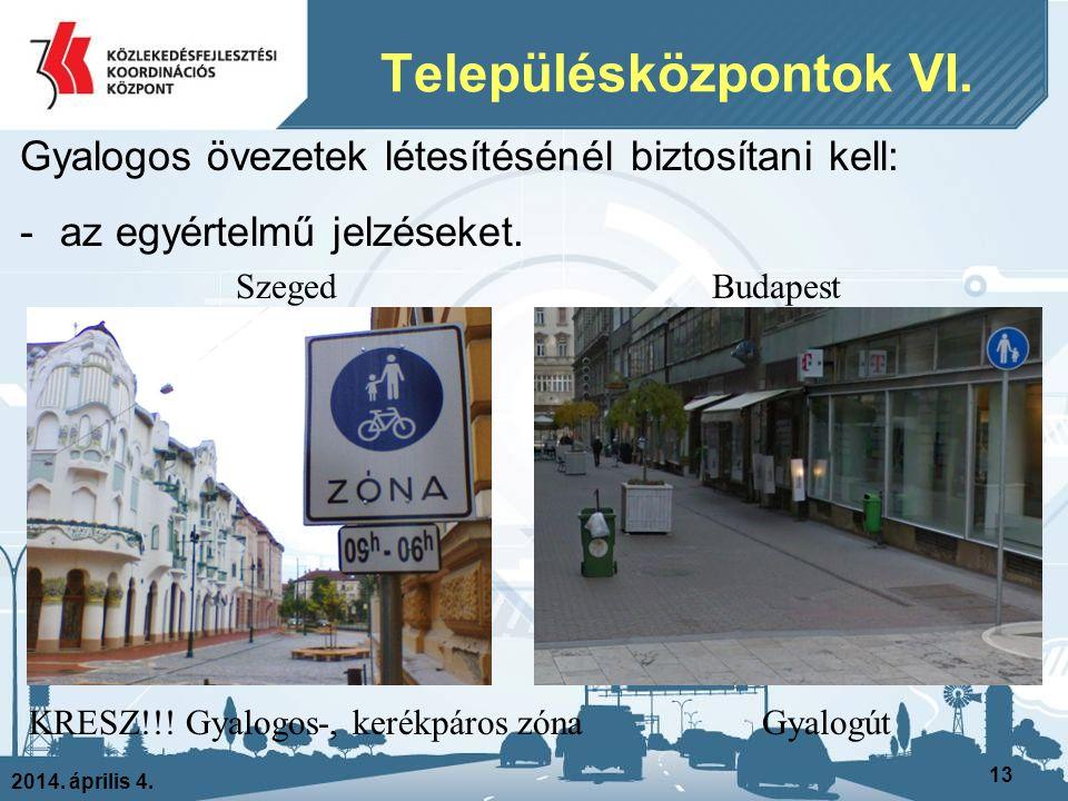 Településközpontok VI.