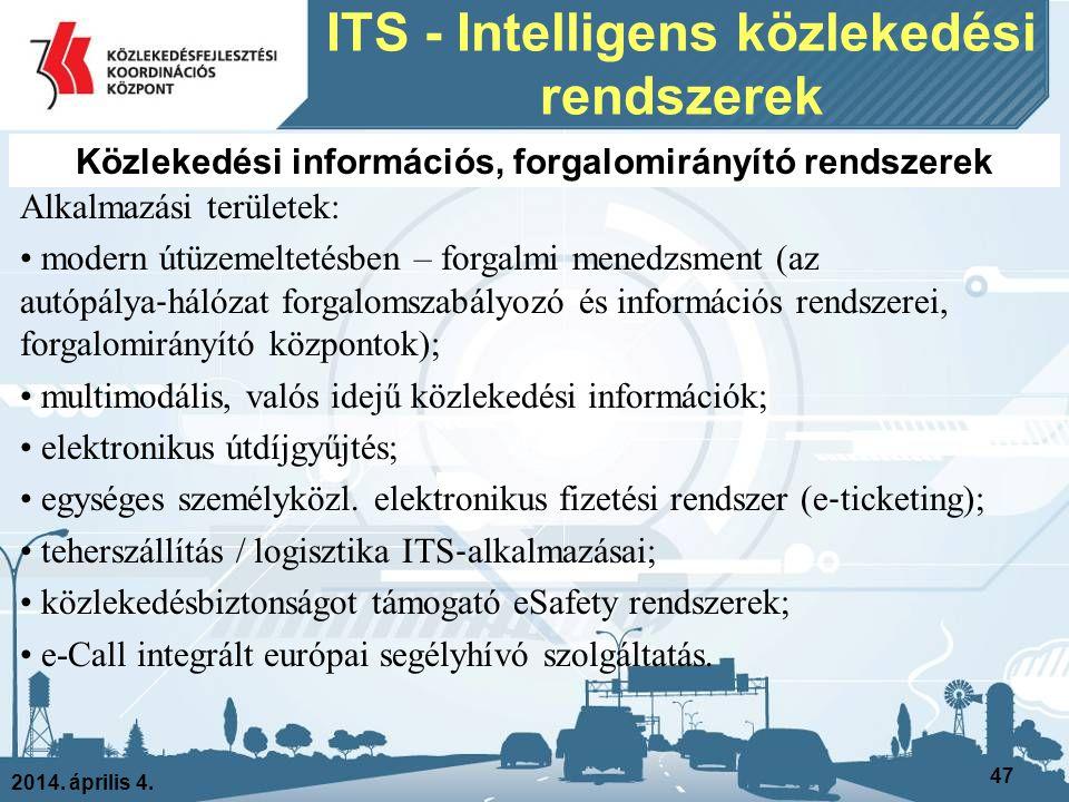 ITS - Intelligens közlekedési rendszerek