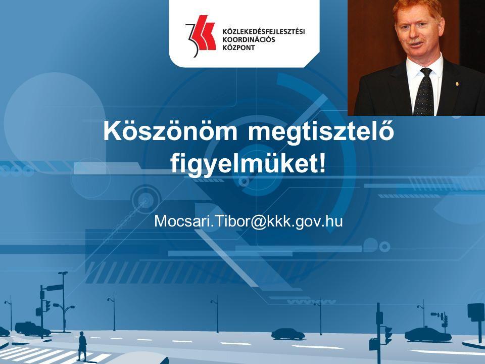 Köszönöm megtisztelő figyelmüket! Mocsari.Tibor@kkk.gov.hu
