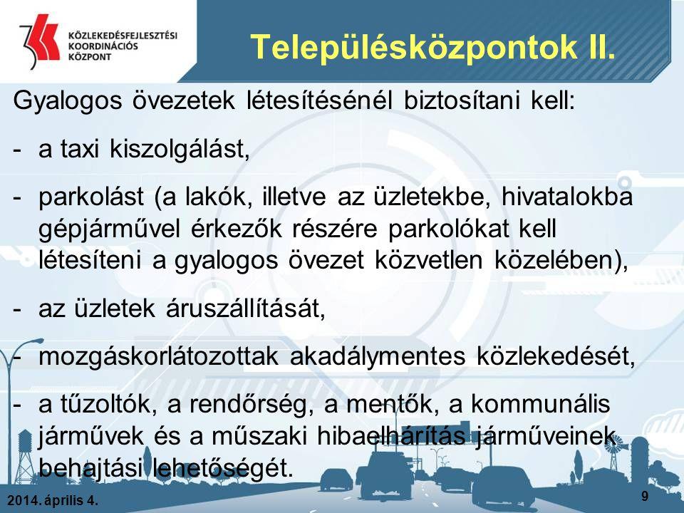 Településközpontok II.