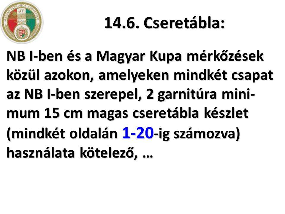 14.6. Cseretábla: