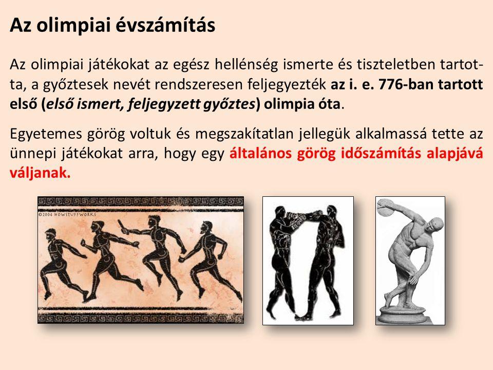 Az olimpiai évszámítás
