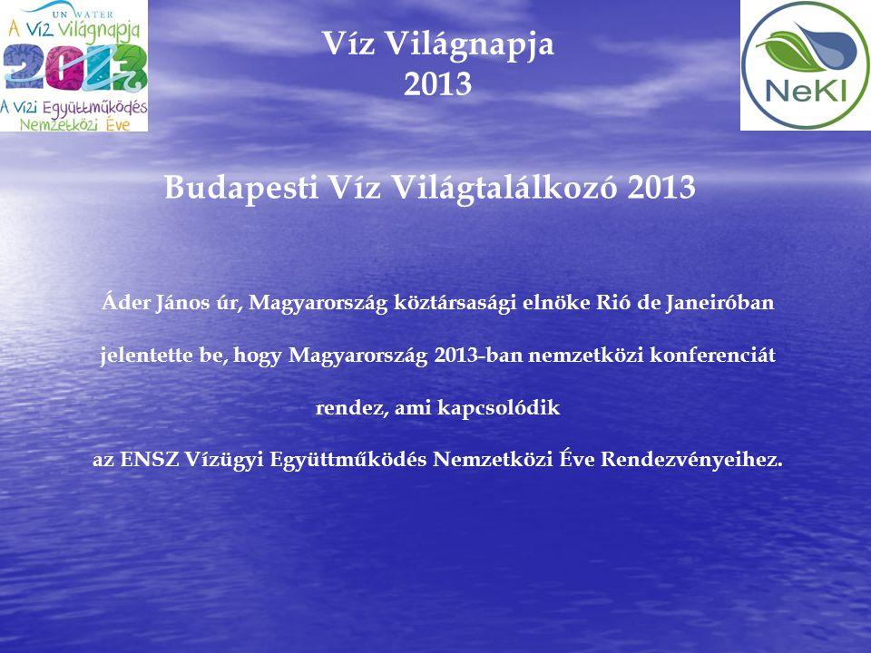 Budapesti Víz Világtalálkozó 2013
