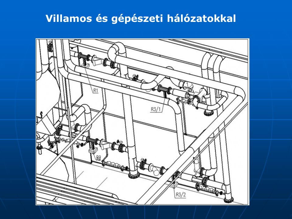 Villamos és gépészeti hálózatokkal