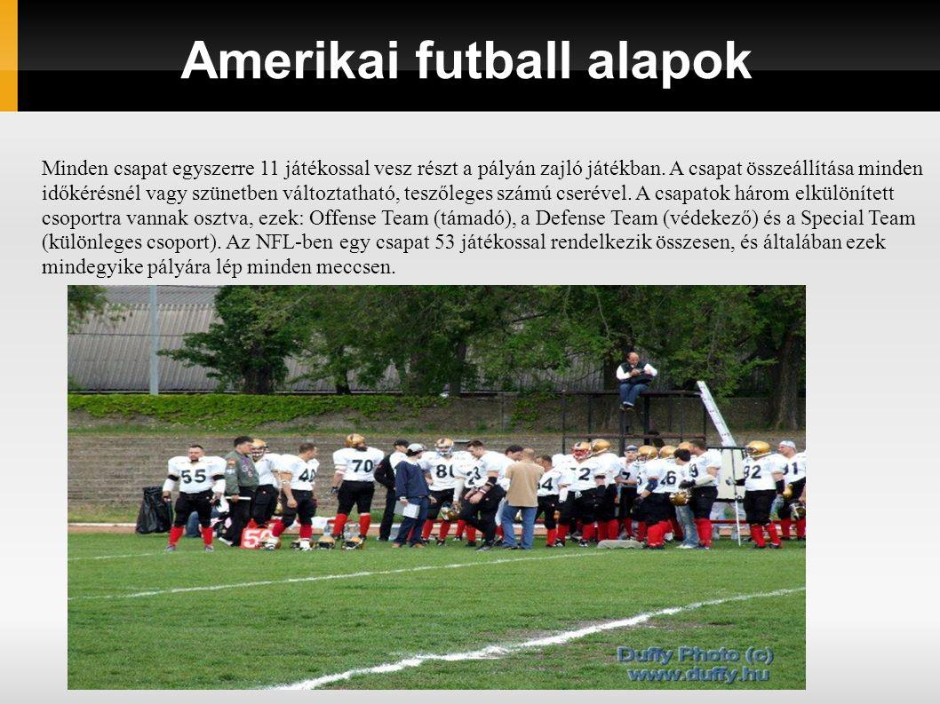 Amerikai futball alapok
