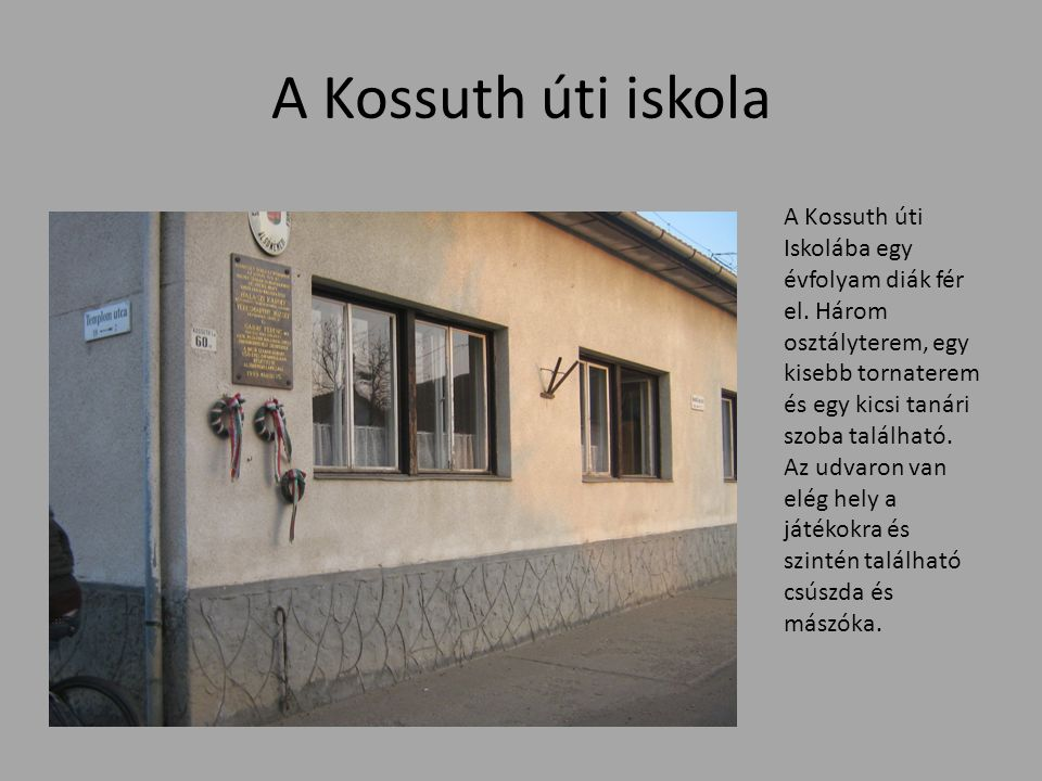 A Kossuth úti iskola