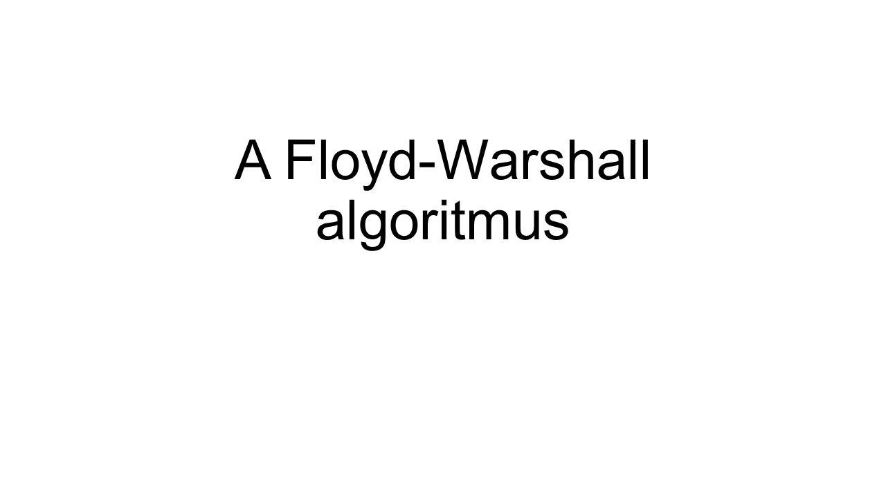 A Floyd-Warshall algoritmus