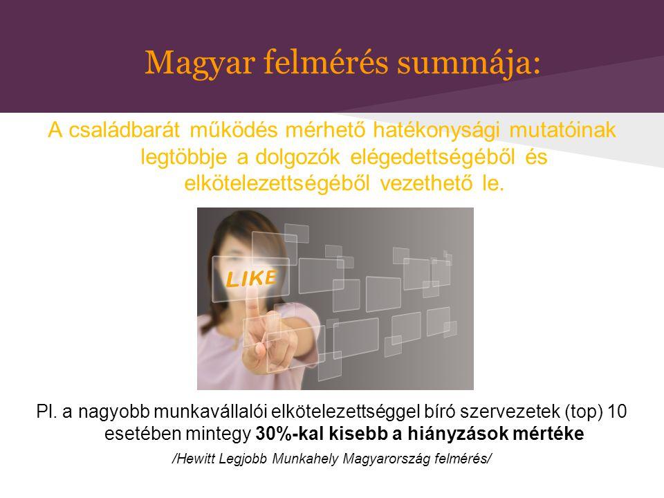Magyar felmérés summája: