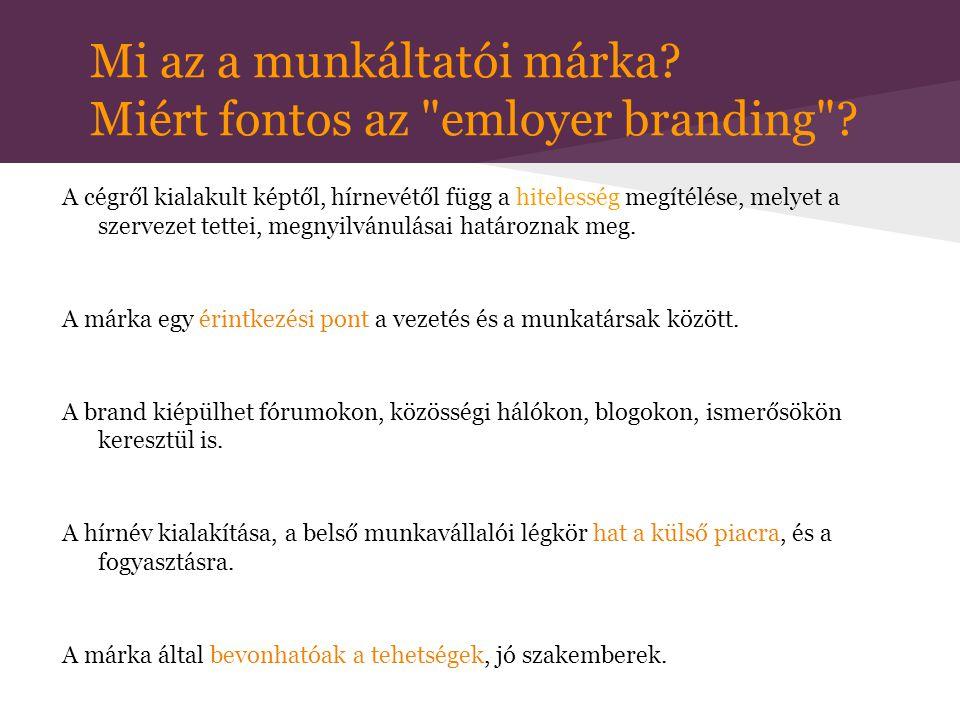 Mi az a munkáltatói márka Miért fontos az emloyer branding