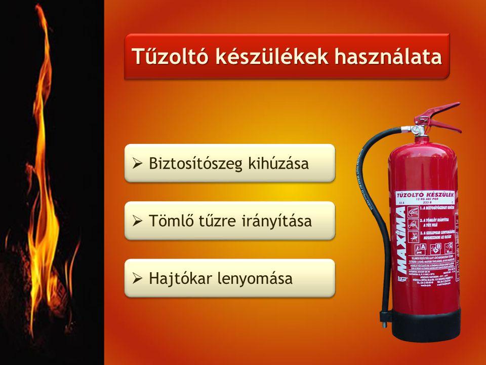 Tűzoltó készülékek használata