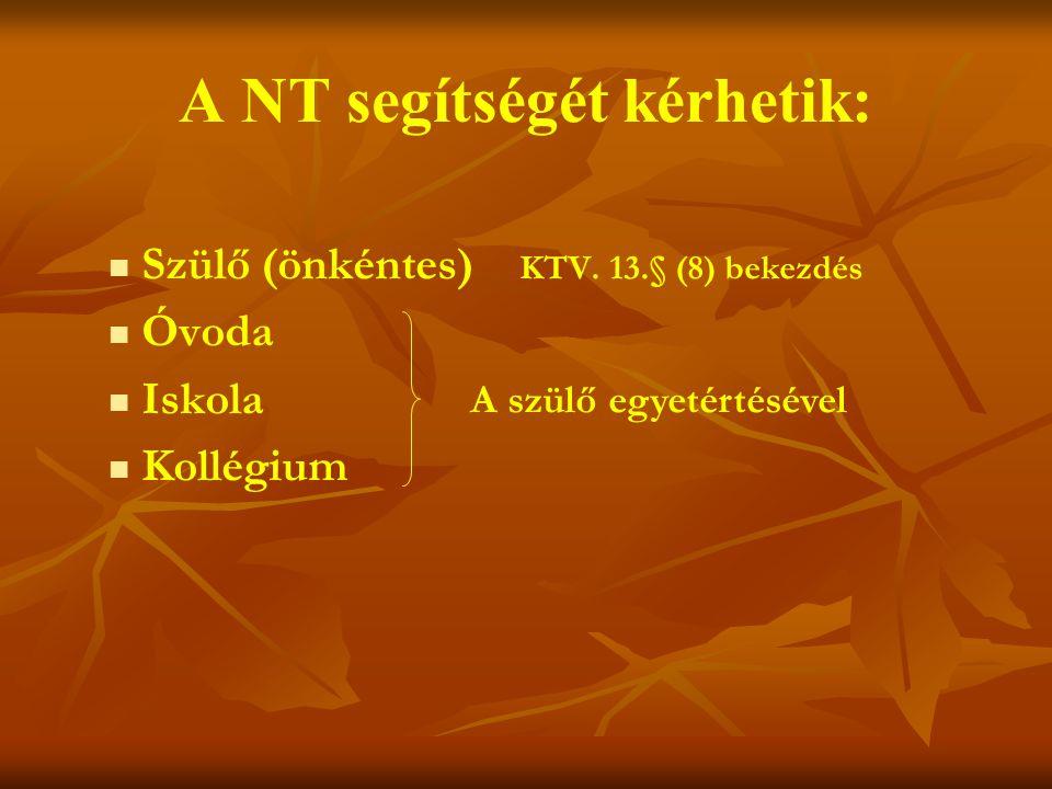 A NT segítségét kérhetik: