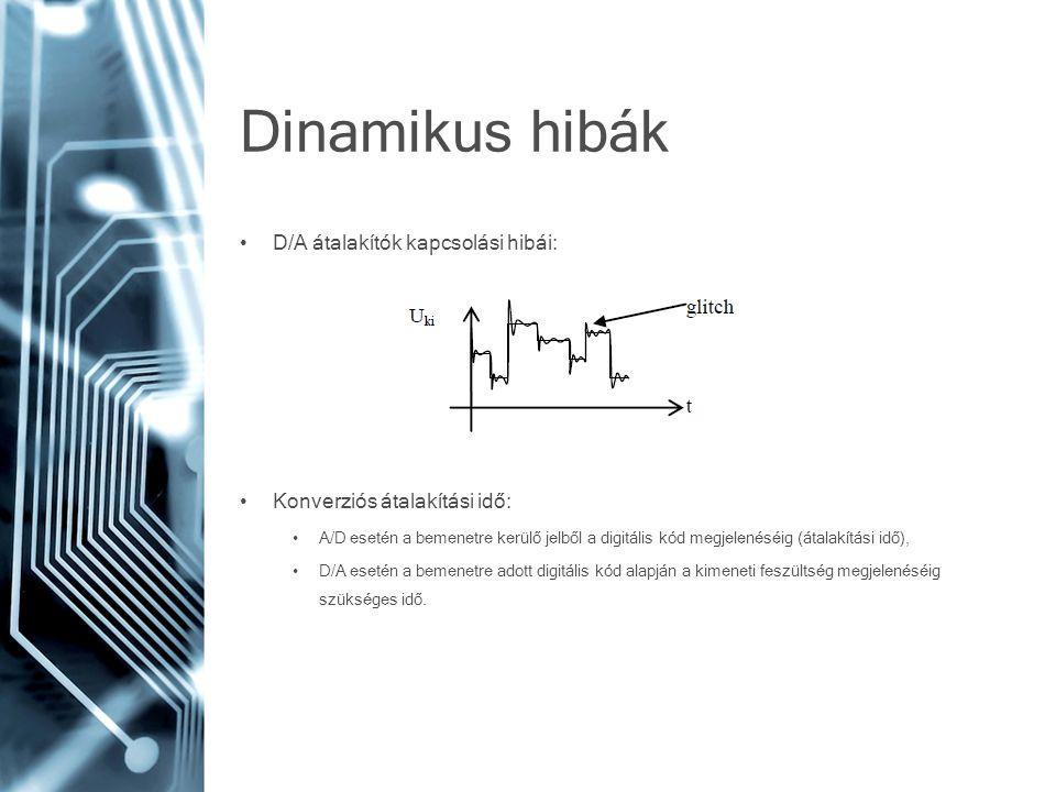Dinamikus hibák D/A átalakítók kapcsolási hibái: