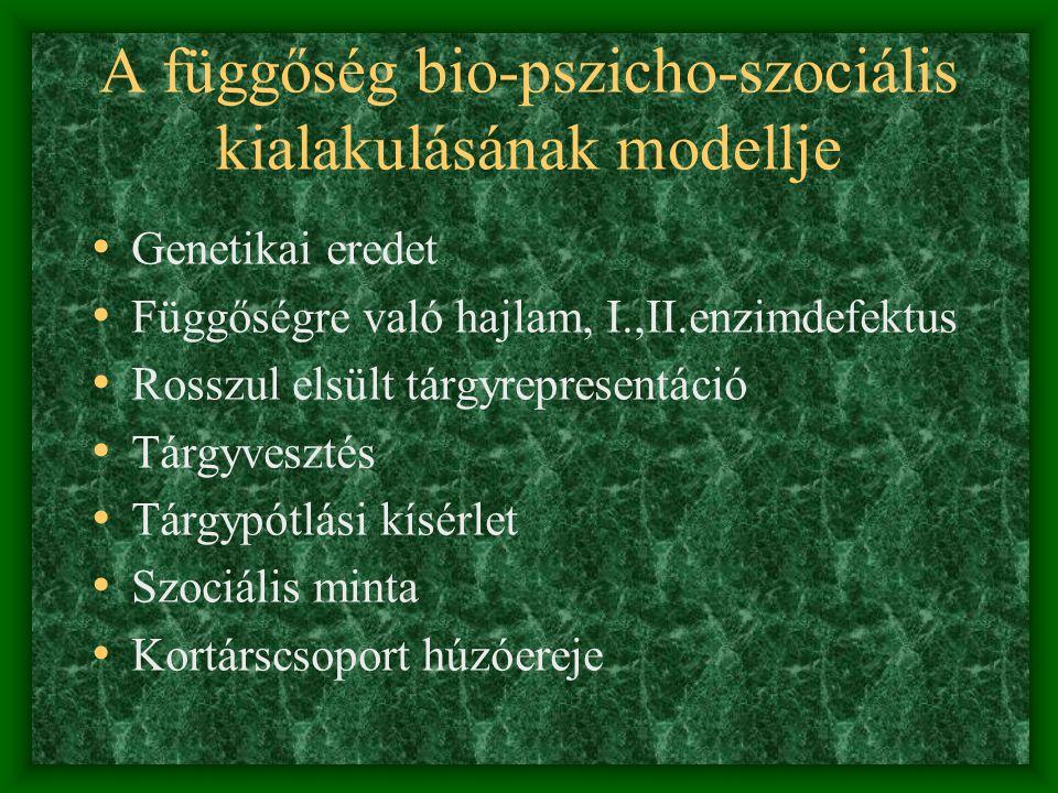 A függőség bio-pszicho-szociális kialakulásának modellje