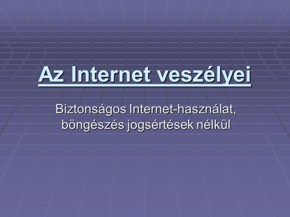 Biztonságos Internet-használat, böngészés jogsértések nélkül