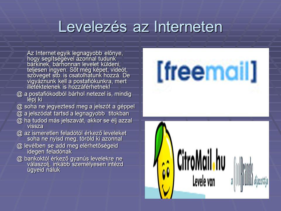 Levelezés az Interneten