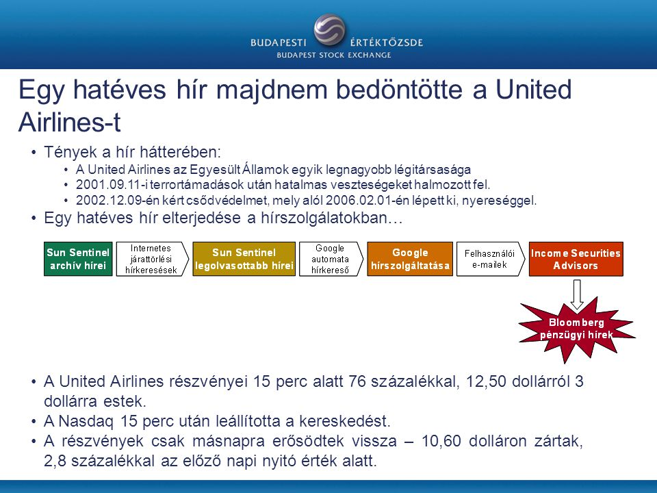 Egy hatéves hír majdnem bedöntötte a United Airlines-t