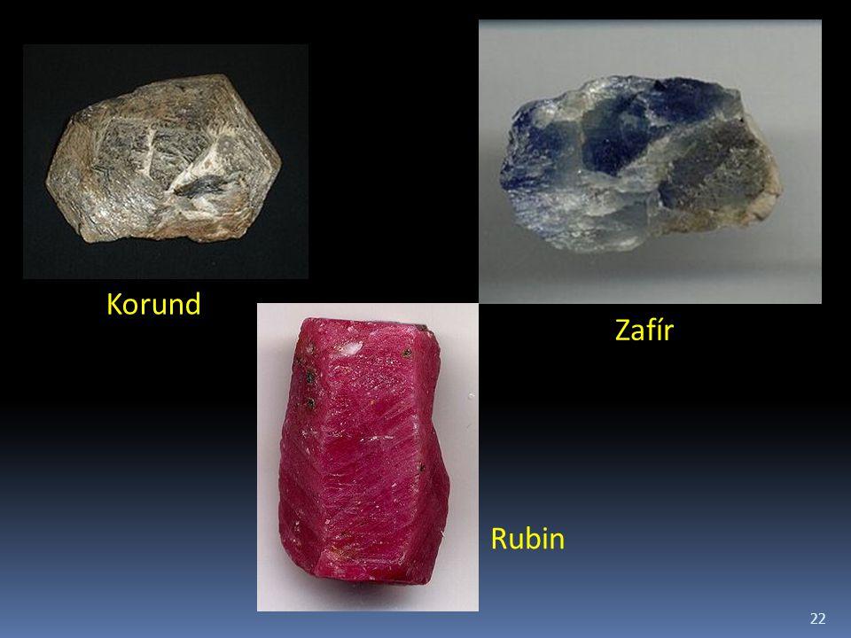 Korund Zafír Rubin