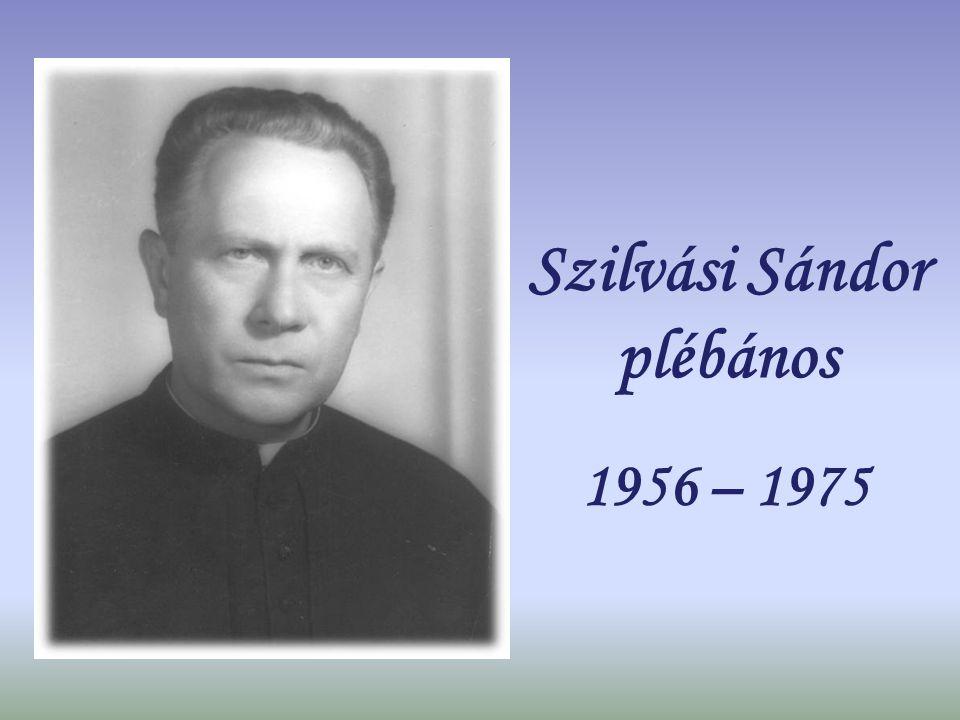 Szilvási Sándor plébános