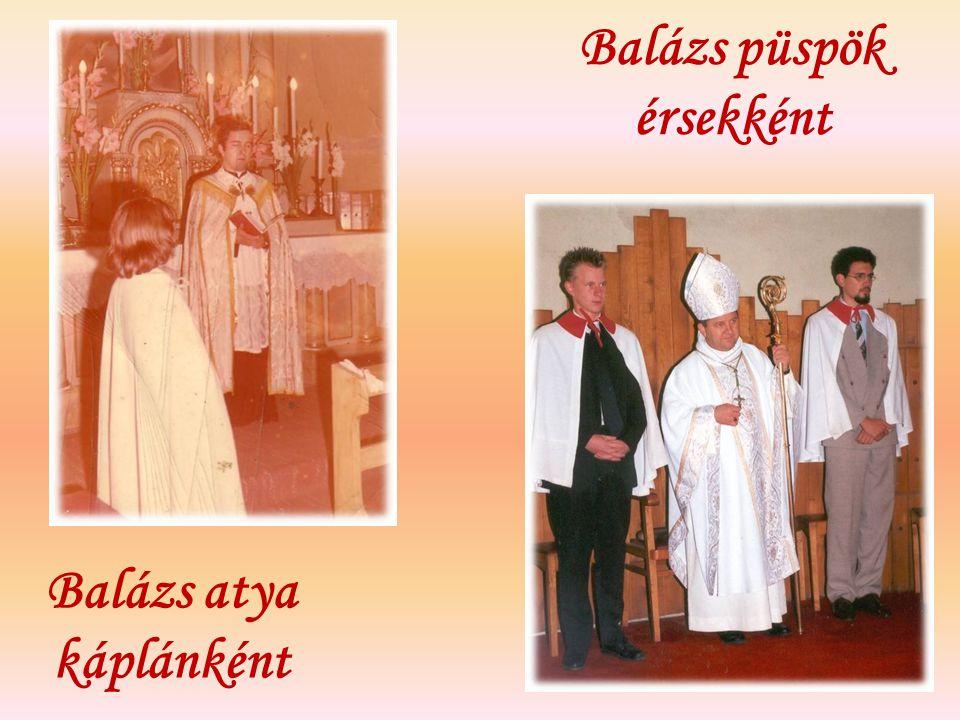 Balázs atya káplánként