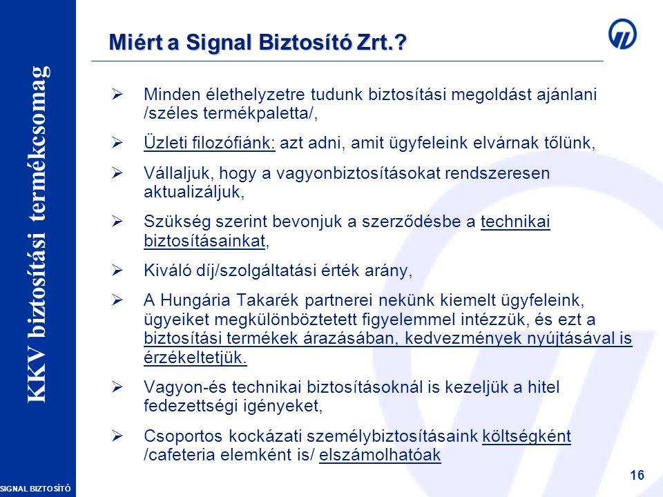 Miért a Signal Biztosító Zrt.