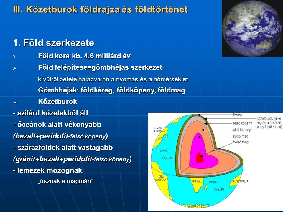 III. Kőzetburok földrajza és földtörténet