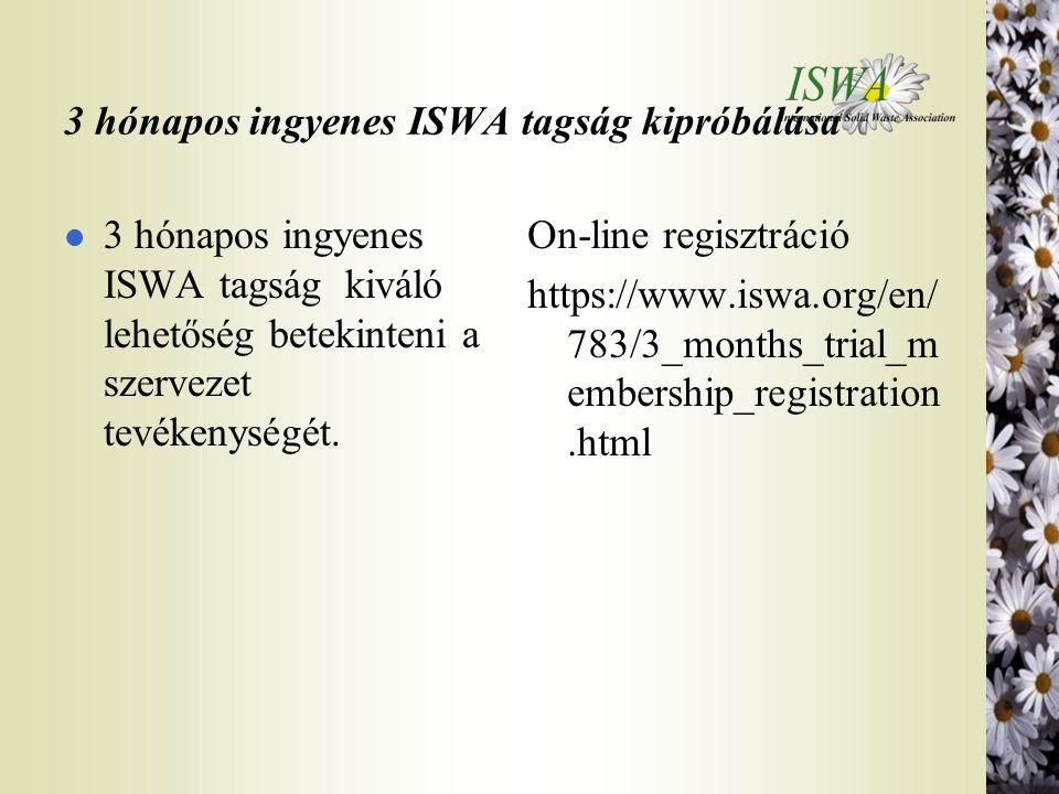 3 hónapos ingyenes ISWA tagság kipróbálása