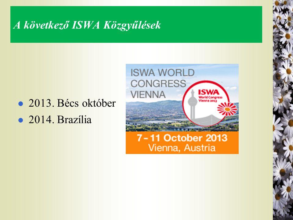 A következő ISWA Közgyűlések