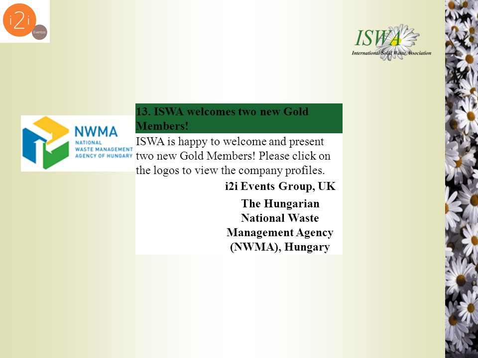 The Hungarian National Waste Management Agency (NWMA), Hungary