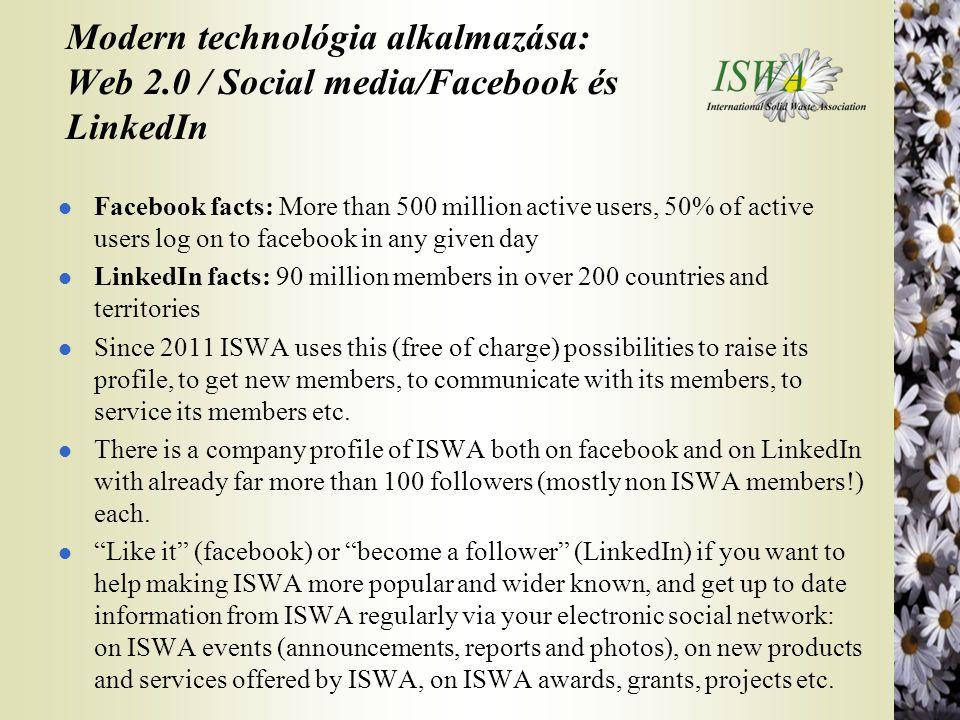 Modern technológia alkalmazása: Web 2