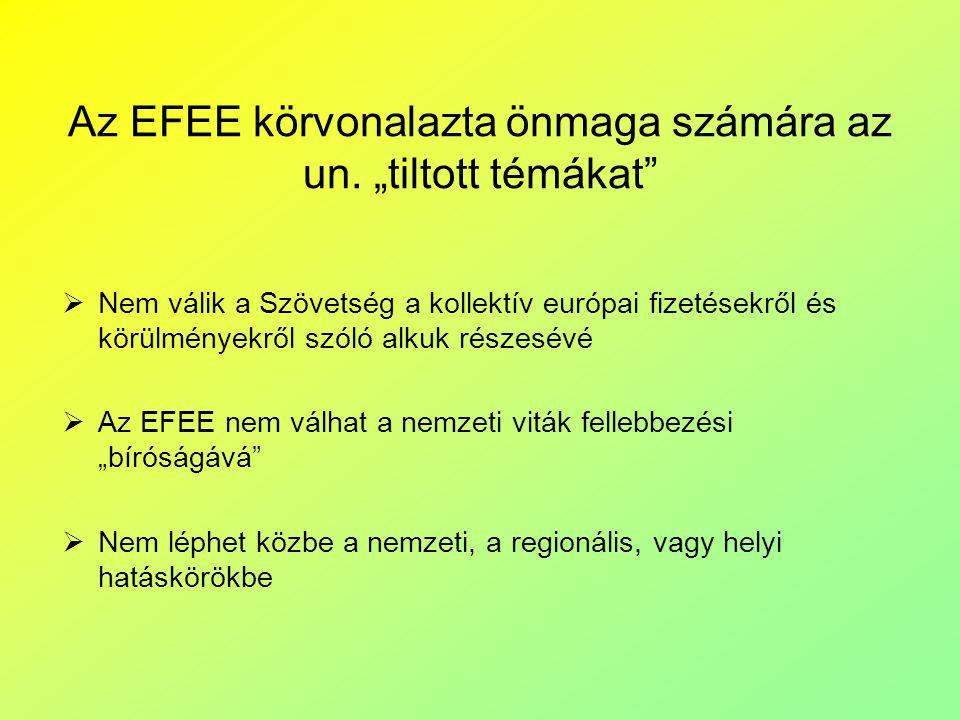 """Az EFEE körvonalazta önmaga számára az un. """"tiltott témákat"""
