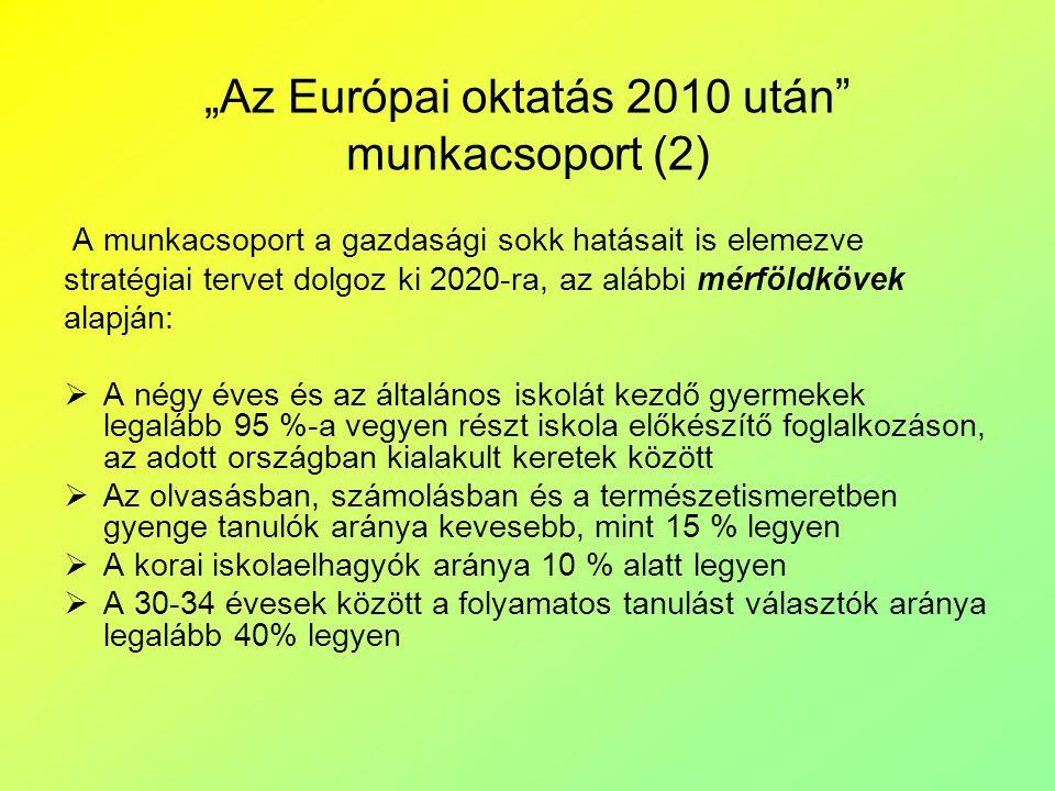 """""""Az Európai oktatás 2010 után munkacsoport (2)"""