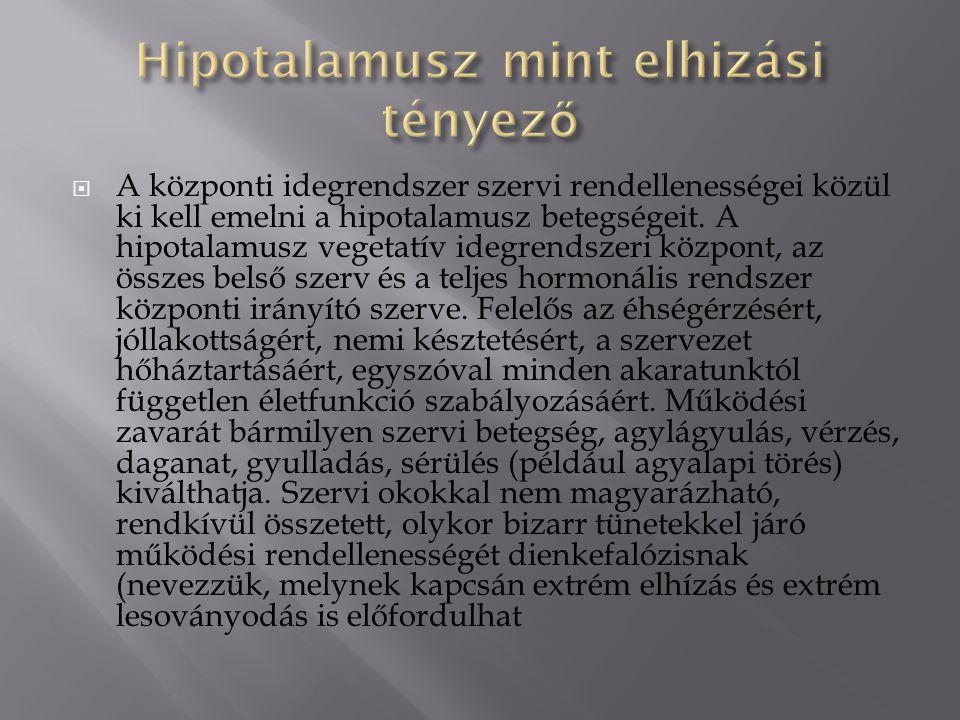 Hipotalamusz mint elhizási tényező