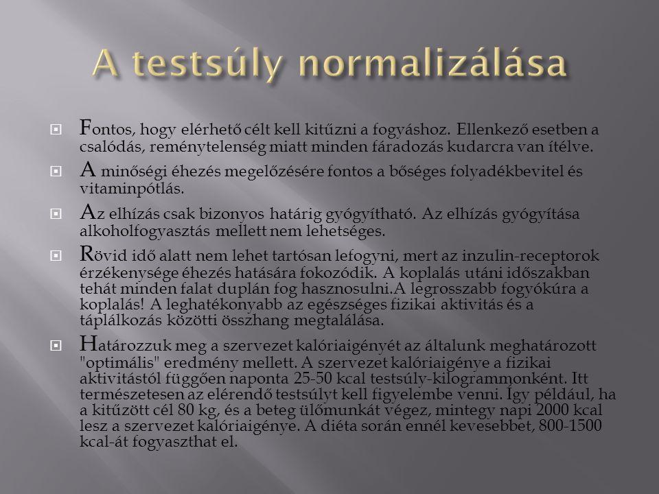 A testsúly normalizálása