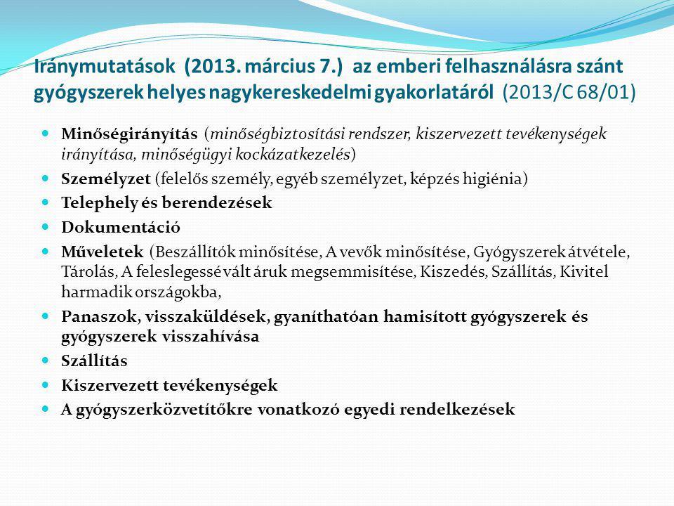 Iránymutatások (2013. március 7