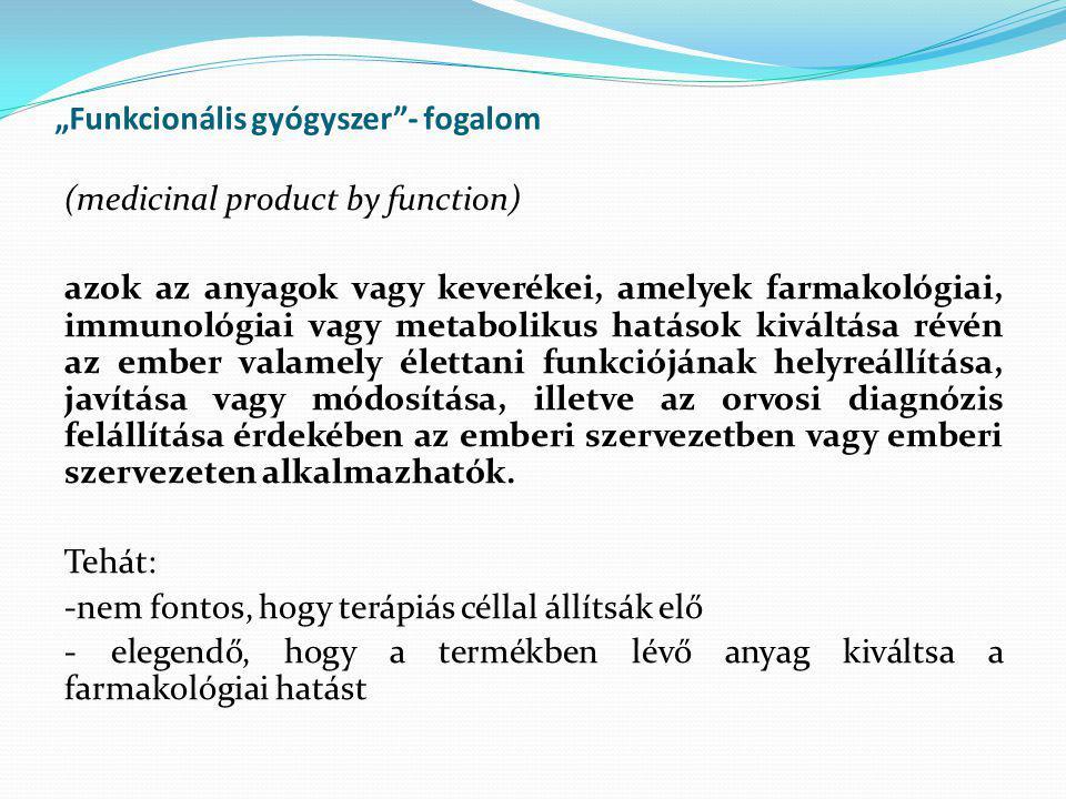 """""""Funkcionális gyógyszer - fogalom"""