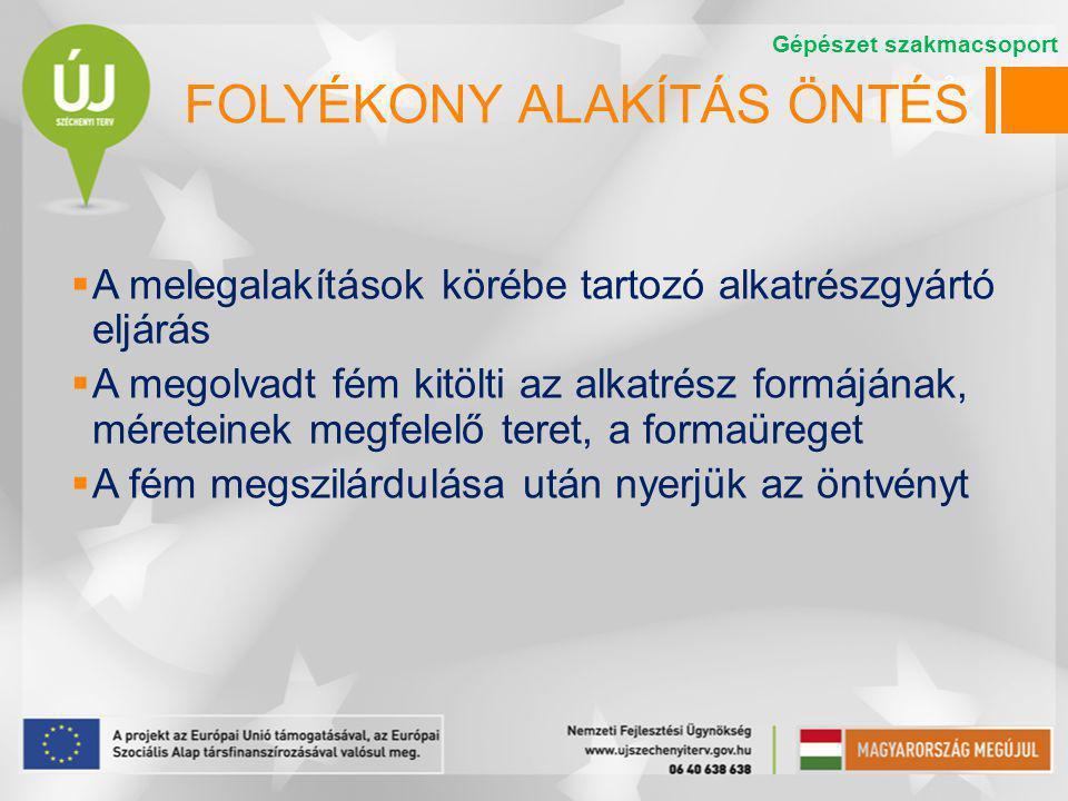 FOLYÉKONY ALAKÍTÁS ÖNTÉS