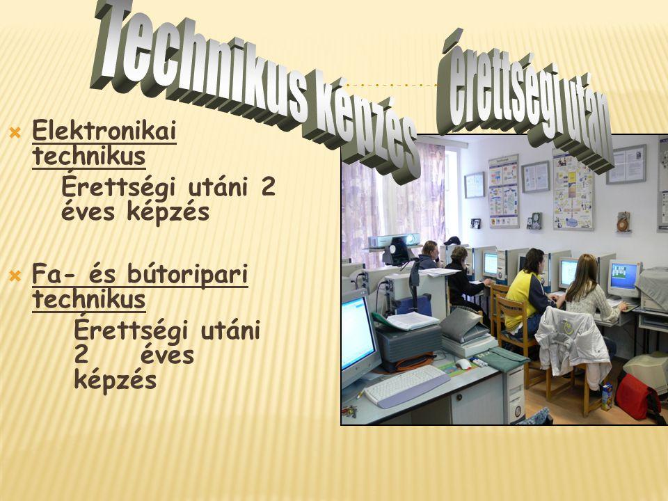 érettségi után Technikus képzés Elektronikai technikus