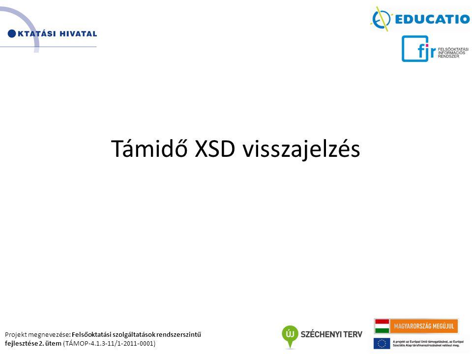 Támidő XSD visszajelzés