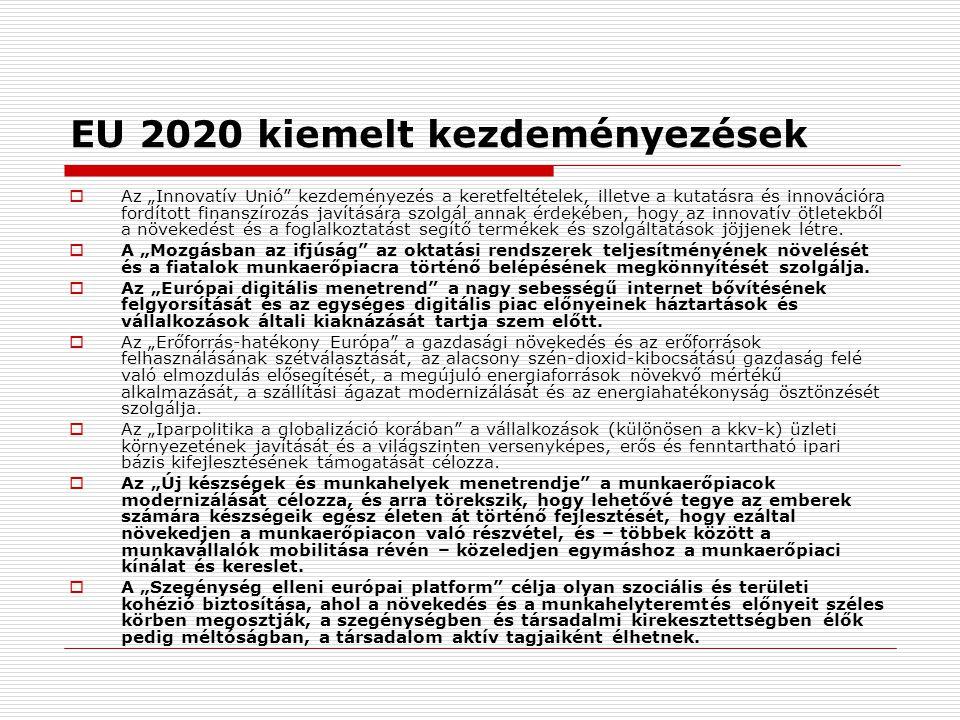 EU 2020 kiemelt kezdeményezések
