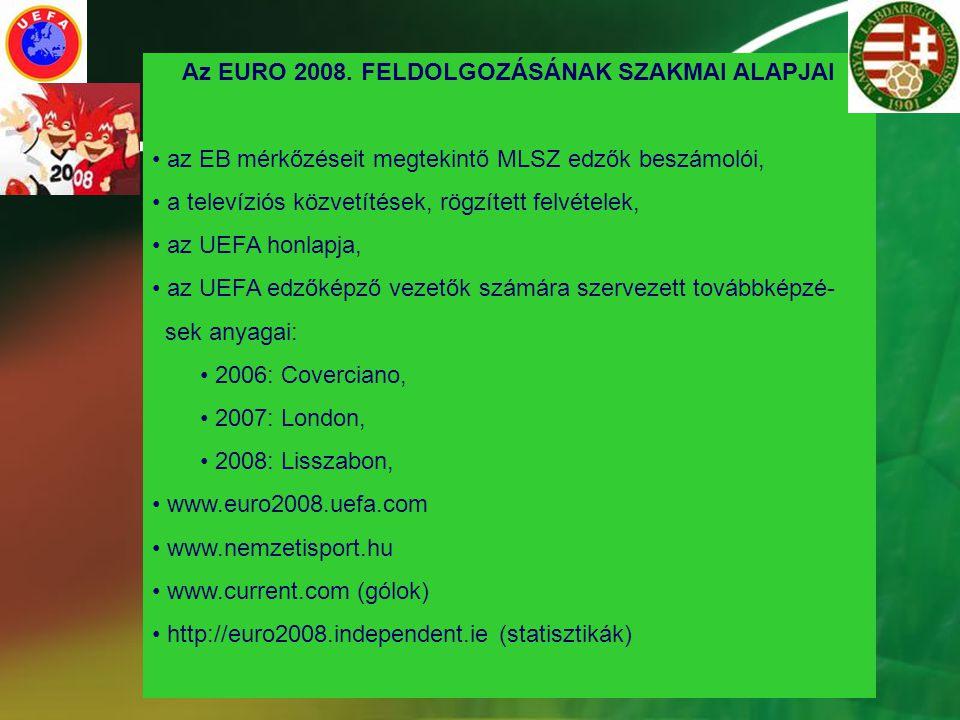 Az EURO 2008. FELDOLGOZÁSÁNAK SZAKMAI ALAPJAI
