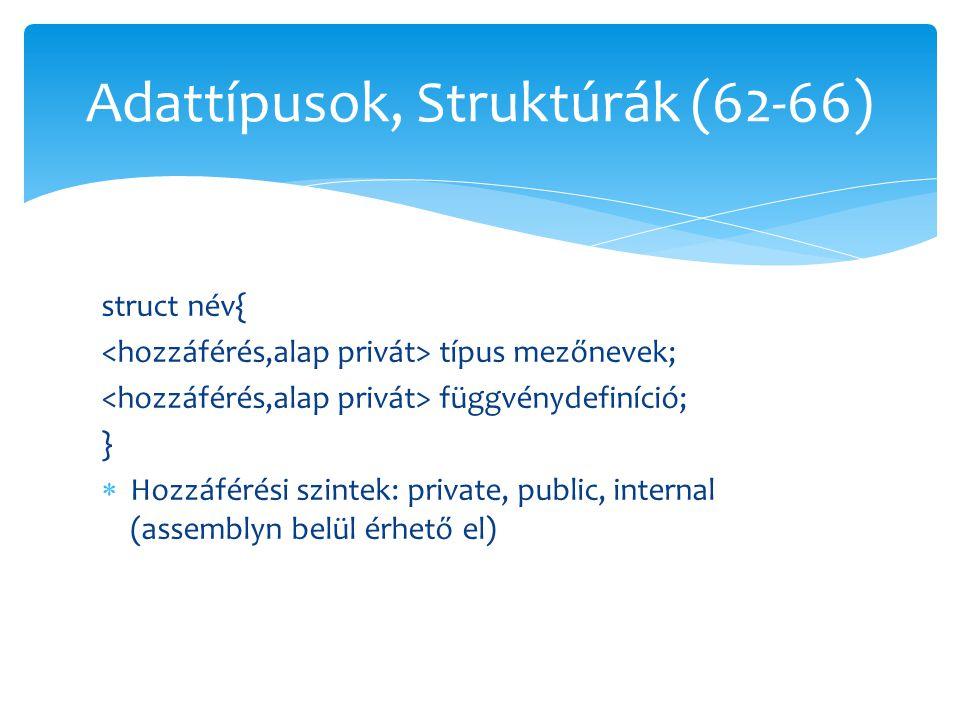 Adattípusok, Struktúrák (62-66)