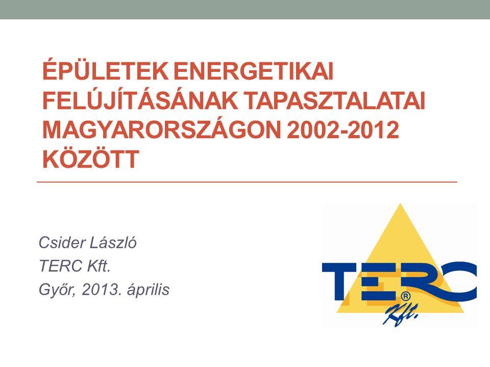 Csider László TERC Kft. Győr, 2013. április
