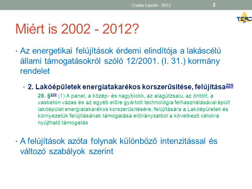 Csider László - 2013 Miért is 2002 - 2012