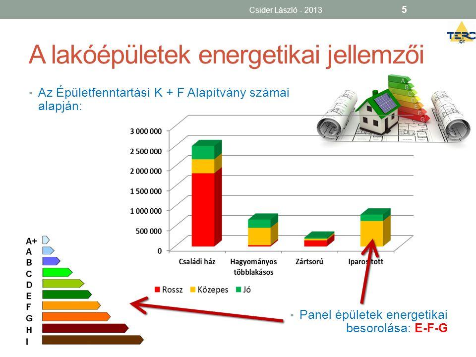 A lakóépületek energetikai jellemzői