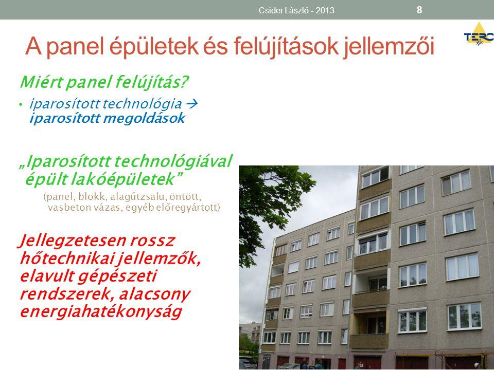 A panel épületek és felújítások jellemzői