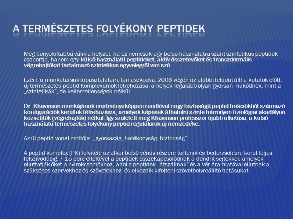 A természetes folyékony peptidek