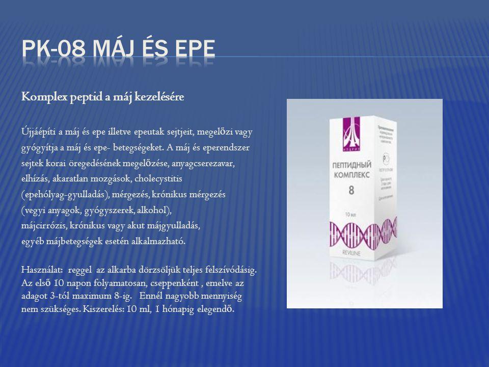 PK-08 Máj és epe Komplex peptid a máj kezelésére