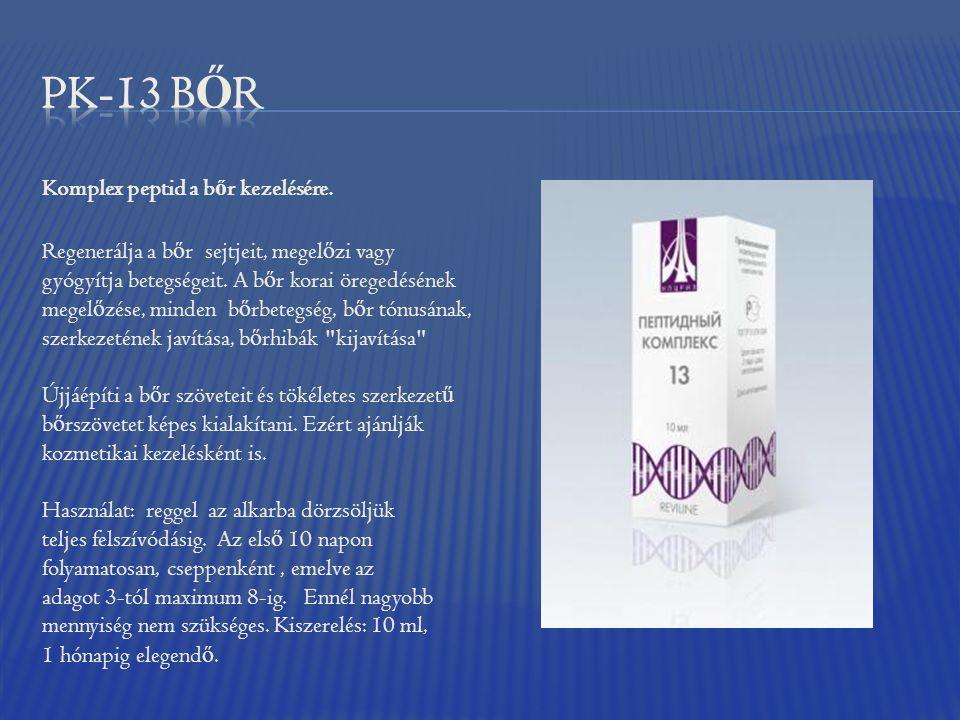 PK-13 BŐR Komplex peptid a bőr kezelésére.